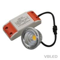 LED Einbauleuchte 5W COB Dimmbar incl. Netzteil