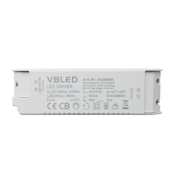 LED Netzteil Konstantstrom / 700mA / 28-40W