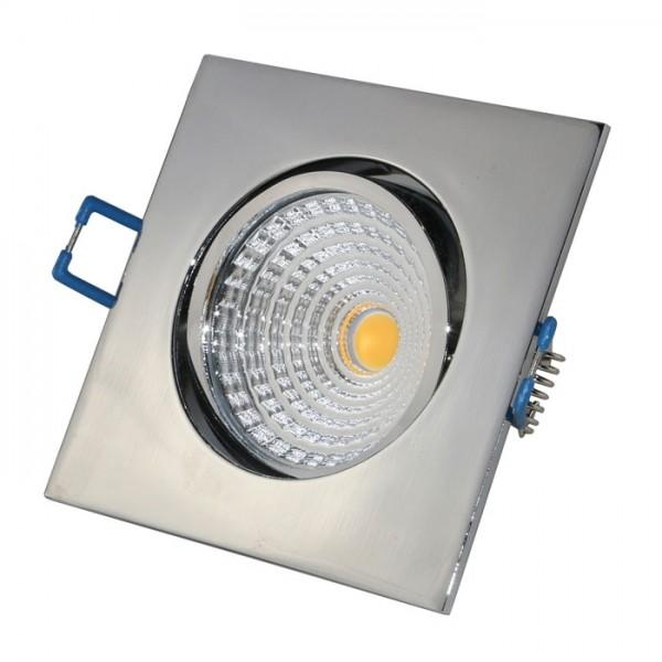 VBLED LED COB Einbaustrahler - eckig - chrom - glänzend - 7W