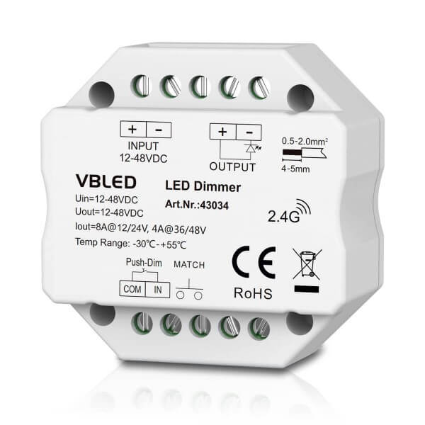 "VBLED LED ""INATUS"" Dimmer - 12-48V DC - 2,4G"
