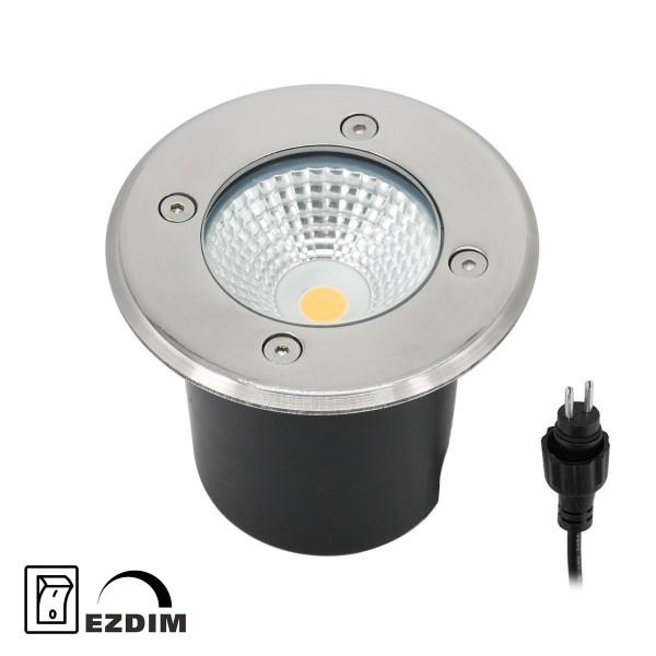 """LED Bodeneinbaustrahler """"Mutantur"""" für Außen 3000K 3-Stufendimmer 1W, 3W, 6W mit EZDIM-Technologie"""