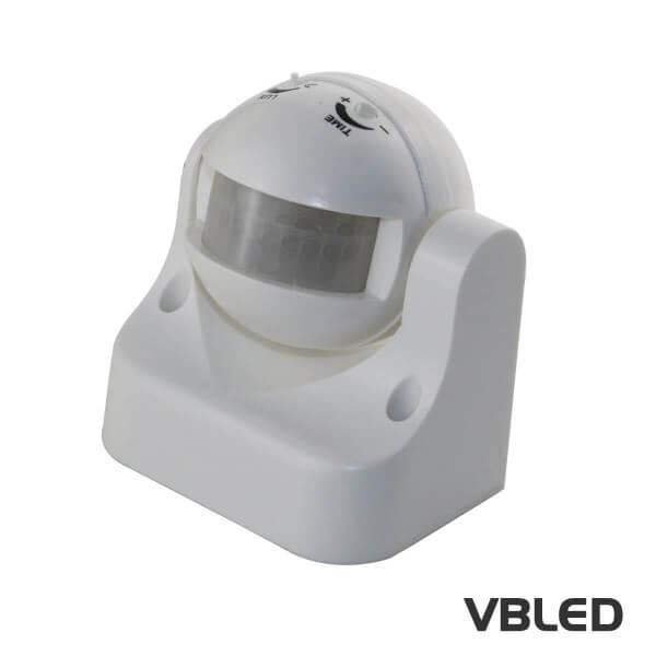 VBLED® PIR Sensor / Bewegungs-Melder 180° Infrarot bis 12m - Anschluss an 230V - LED Beleuchtung uvm