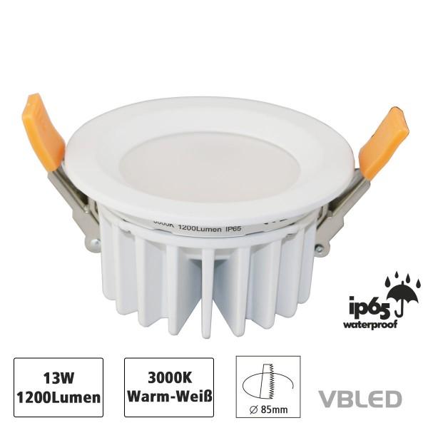 VBLED LED Einbauleuchte - IP65 Wasserdicht - 13W - 230V
