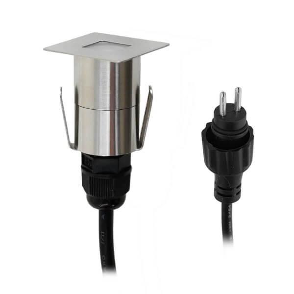 VBLED LED Bodeneinbauleuchte - 0,2W - 3000K - 10 Lumen - Eckig