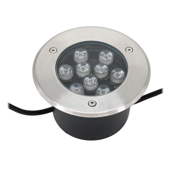 LED Bodeneinbaustrahler 9X1W 230V AC 720 Lumen