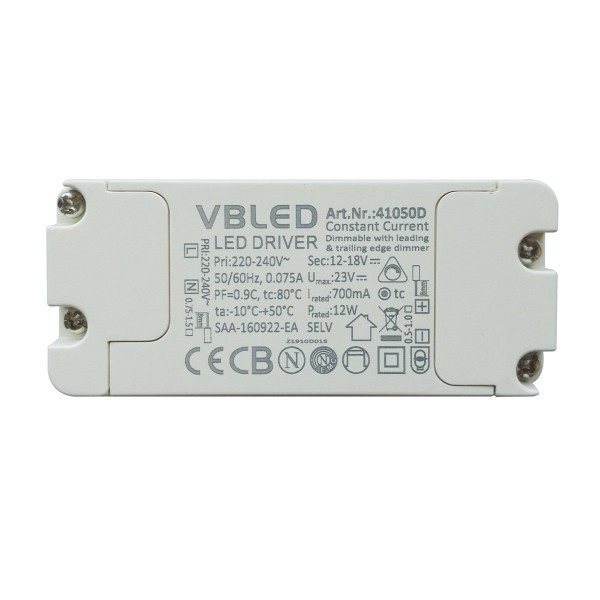 LED Netzteil Konstantstrom / 700mA / 8-12W