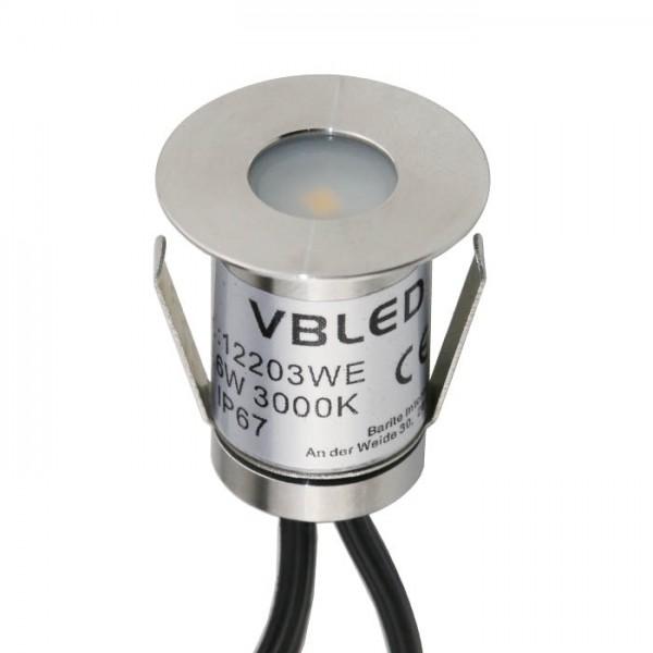 """VBLED LED Mini Bodeneinbauleuchte """"Floro"""" 0,3W 12V"""