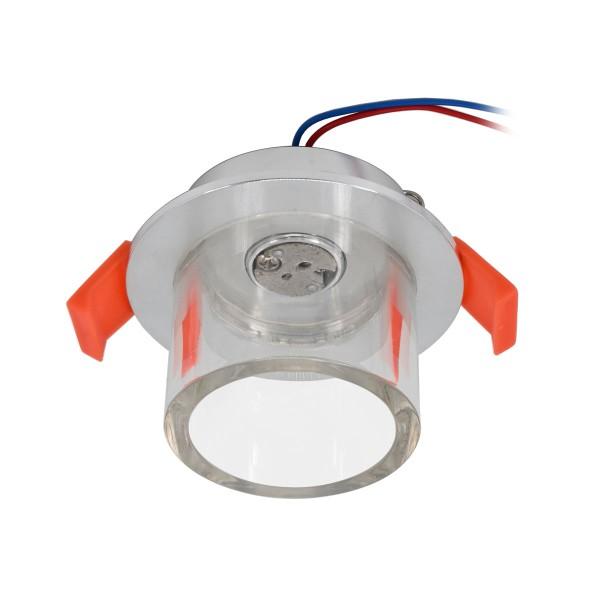 Einbauleuchte mit Acrylglasrand für 12V G4 LED-Leuchtmittel