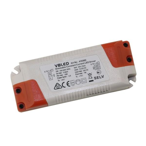 VBLED LED Netzteil 350mA / 16-22V DC / 7W / Dimmbar (für 6-7 Mini Spots geeignet)