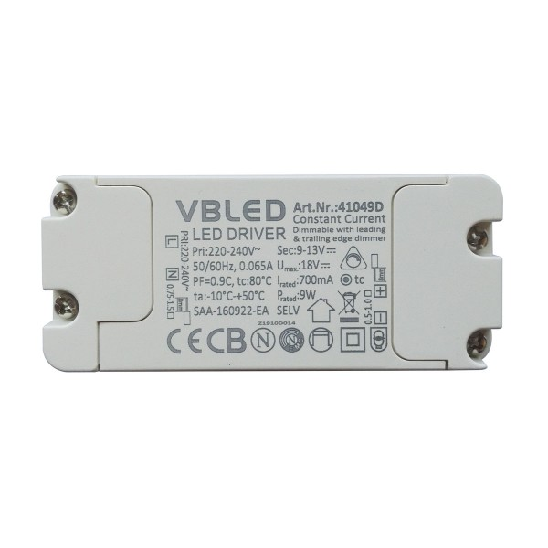 LED Netzteil Konstantstrom / 700mA / 6-9W