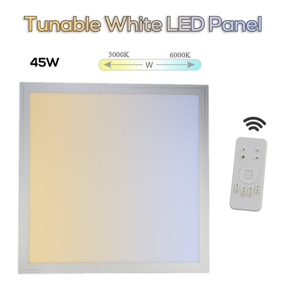 Tunable White LED Panel 45W 3000-6000 Kelvin Dimmbar + Dynamisches Licht