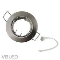 Einbaurahmen aus Stahl - silber Optik rund gebürstet - schwenkbar