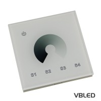 VBLED® Touch-Dimmer für einfarbige LED zur Wand-Montage