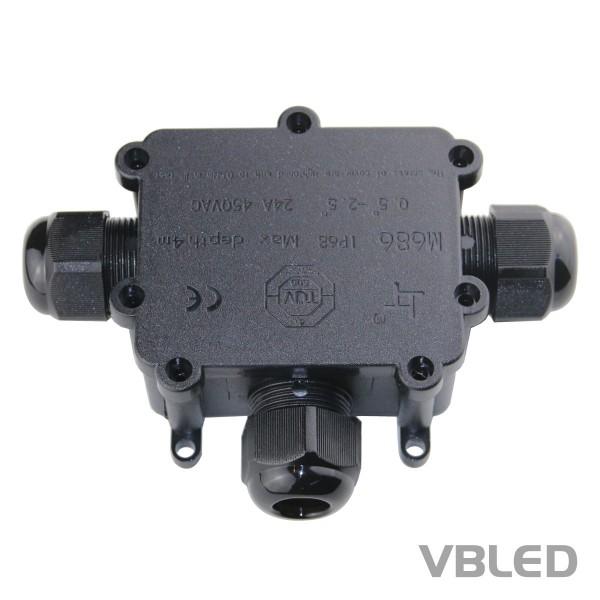 3-fach Kabel-Verbindungsbox inkl. Schnellverbinder IP66
