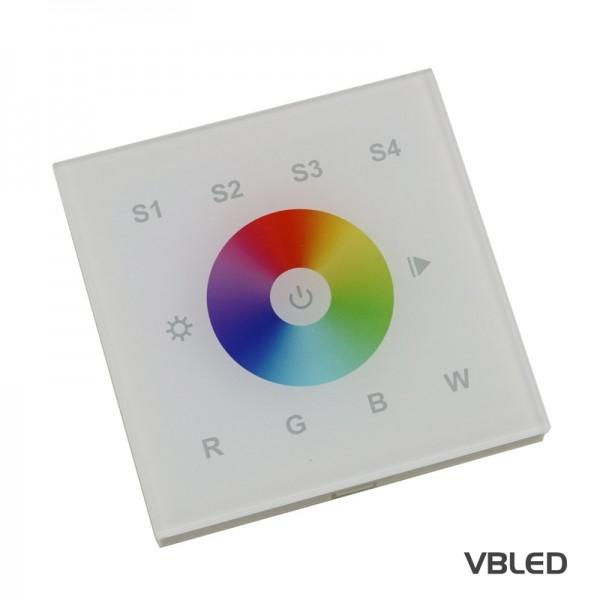 Wand Touch Panel LED Controller 4 Kanäle Fernbedienung für RGB / RGBW / LED Streifen 12-24VDC
