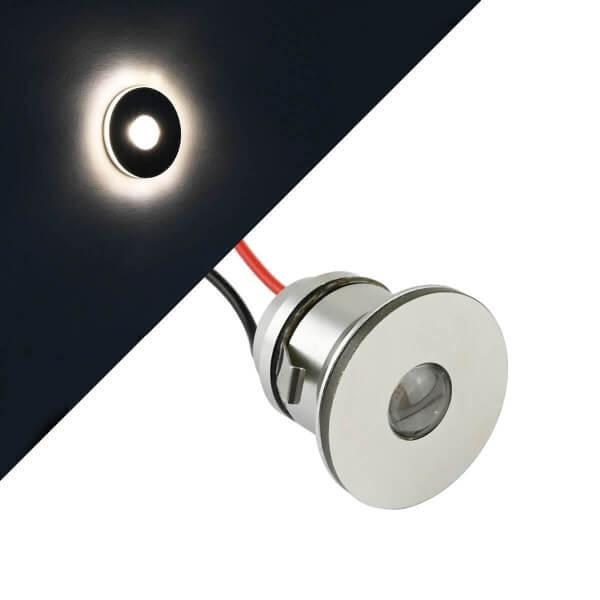 "1W VBLED LED Mini Einbauspot ""LATERA"" Seitenstrahlend Minispot - 350mA - IP44 - 3000K"