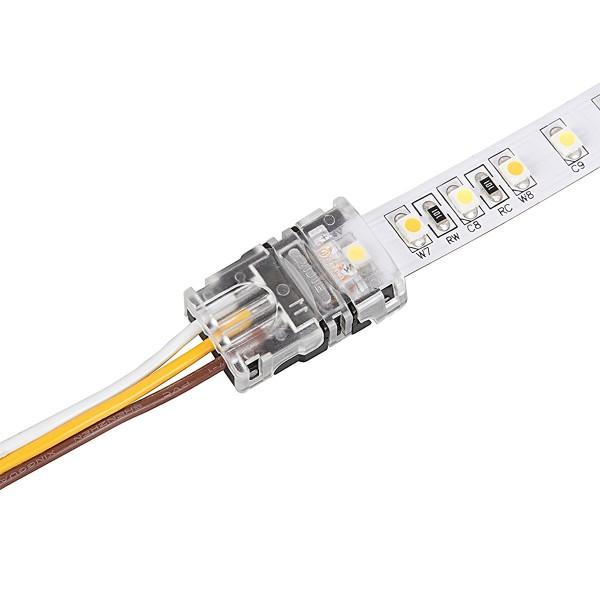 professionelle Tunable white LED Streifen Verbinder - Kabelverbinder 10mm 3 PIN ohne Löten