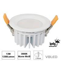 13W LED Einbauleuchte Wasserdicht IP65 230V