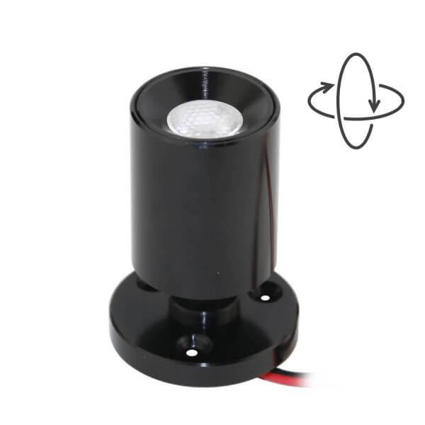 """VBLED LED Mini Aufbauspot """"TINI"""" 1W Rotier- & Schwenkbar"""