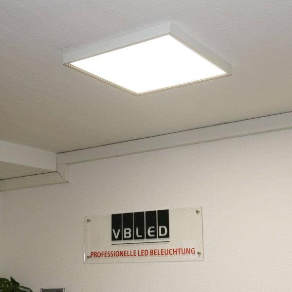 LED Panel 620x620x8mm KIT inkl. Aufputzrahmen mit Klick-System