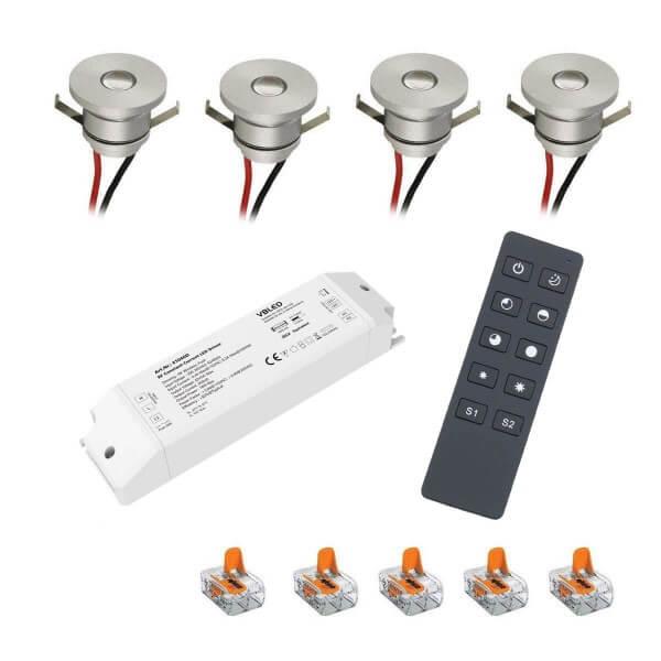 LED Mini Einbaustrahler 4-er Set