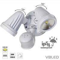 26W LED Wandleuchte 2x13W Strahler IP54