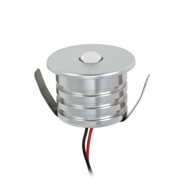 "3W Mini LED Einbauspot ""ALDYNE"" warmes Weiß 12V DC IP44 Wasserdicht"