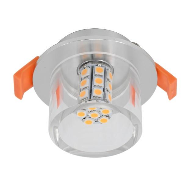 LED Einbauleuchte mit G4 Leuchtmittel 12VDC 3W 3000K 300Lumen