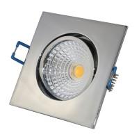 7W LED Einbaustrahler eckig chrom glänzend