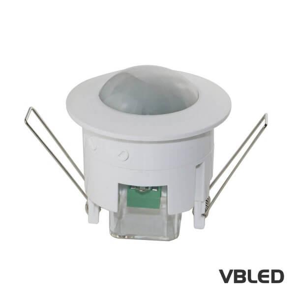 VBLED® Bewegungs-Melder 360° zum Decken-Einbau / PIR Sensor Infrarot - Anschluss an 230V - 1200W - L