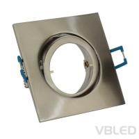 Einbaurahmen aus Aluminium - silber Optik eckig gebürstet - schwenkbar