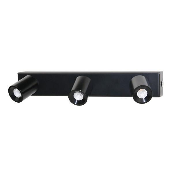 LED 3x1W warmweiße Deckenspot-Aufbauleiste Rotier- & Schwenkbar