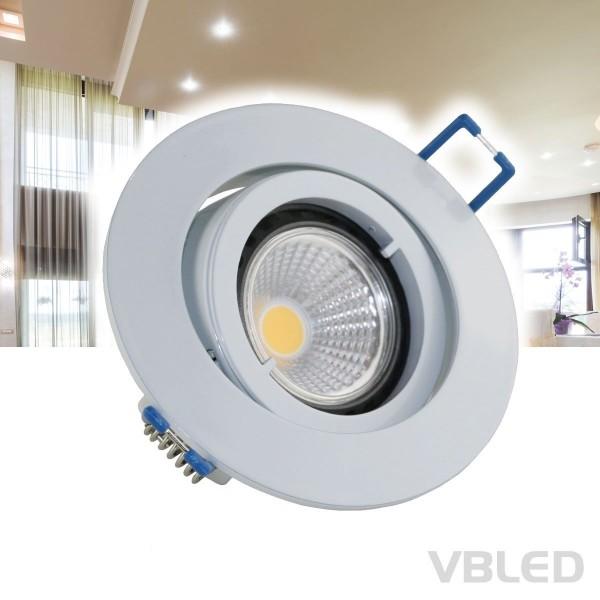 LED Einbaustrahler aus Aluminium / Weiß / rund / inkl. 3,5W LED