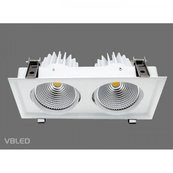 VBLED LED Einbauleuchte - Doppelt - 60W