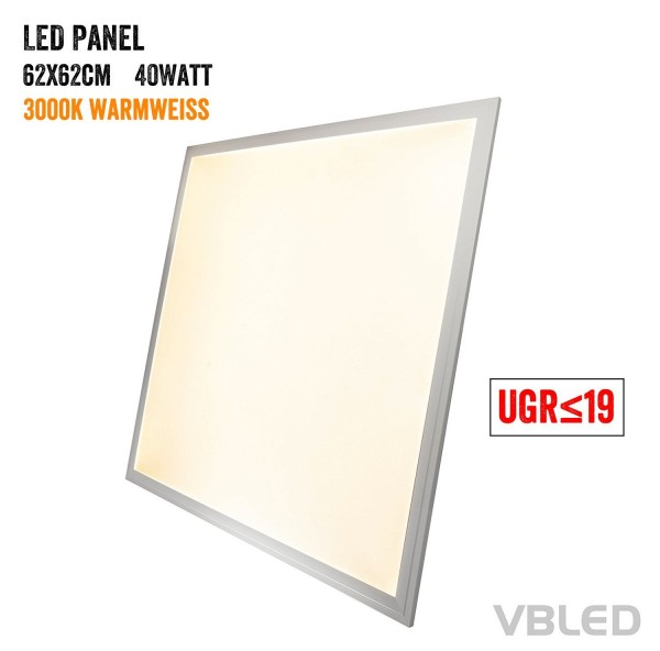 LED Panel 620x620x11mm 40W 3000K