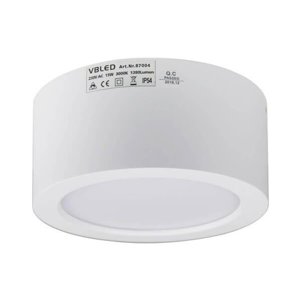 VBLED LED Aufbauleuchte in weiß 3K 15W