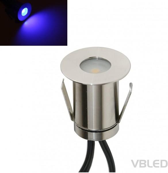 """LED Mini Bodeneinbauleuchte """"Floro"""" 0,3W 12V Blau"""