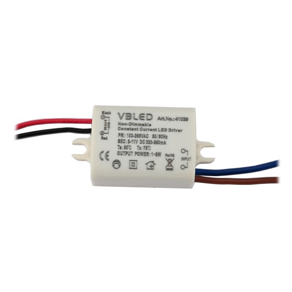 LED Netzteil Konstantstrom / 320-350mA / 3W