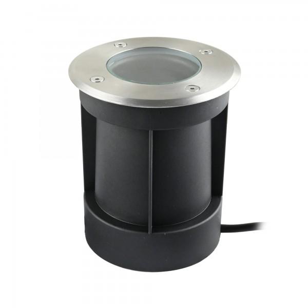 Schwenkbarer LED Bodeneinbaustrahler 230V AC IP67 wassergeschützt ohne Leuchtmittel