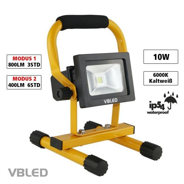 VBLED LED Akku Strahler 10W