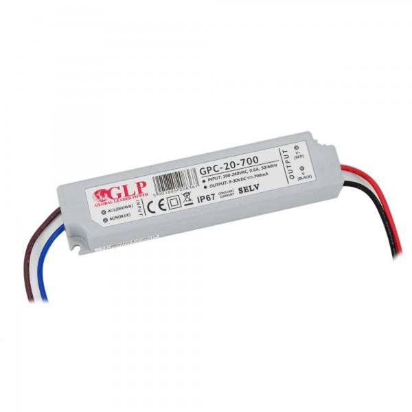Konstantstrom LED-Netzteil, 21W, 700 mA, 9-30 V DC, IP67