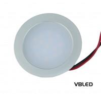 0.9W LED Einbauleuchte EBL slim flach rund