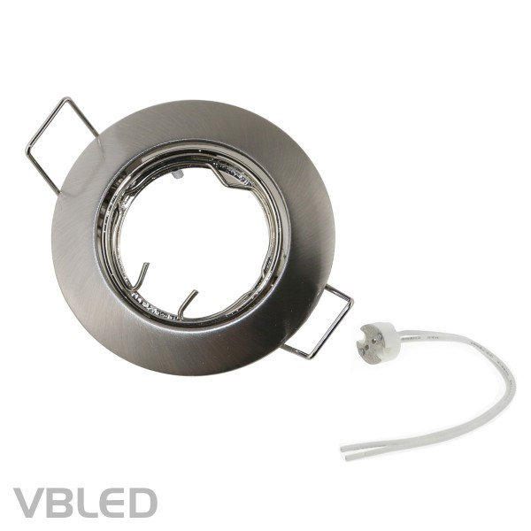 LED Einbaurahmen - Metall - Ø56mm - silber - rund - schwenkbar