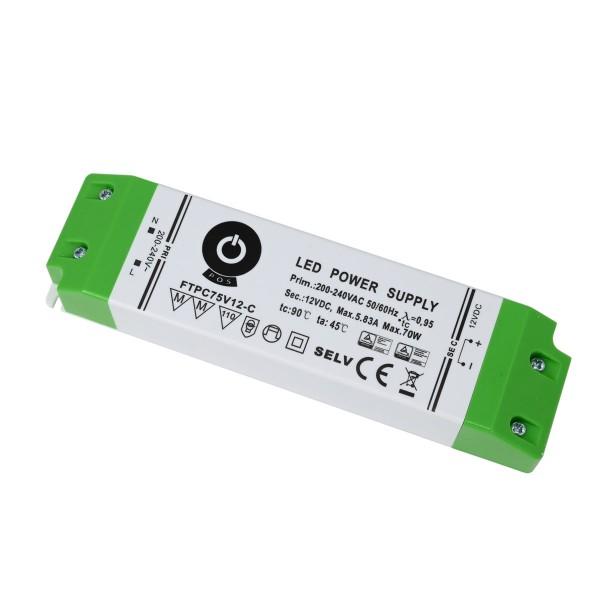 LED-Netzteil Konstantspannung, 75W, 12V DC IP20