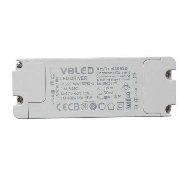 LED Netzteil Konstantstrom / 700mA / 12-18W