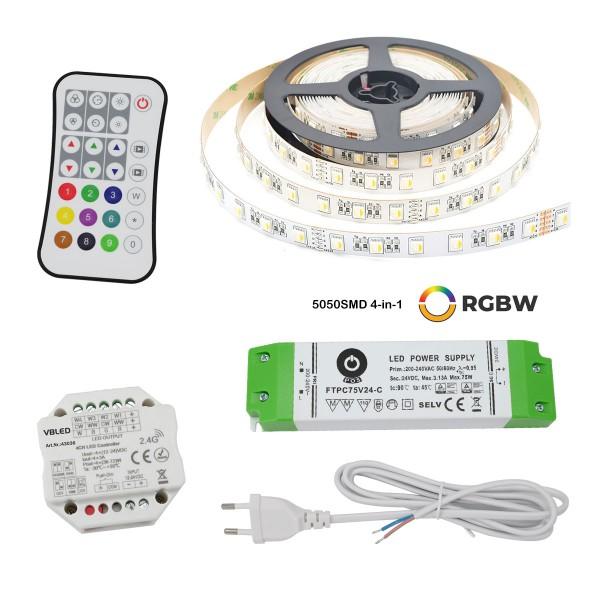 24VDC RGBWW LED-Streifen Strip light 5m Kit