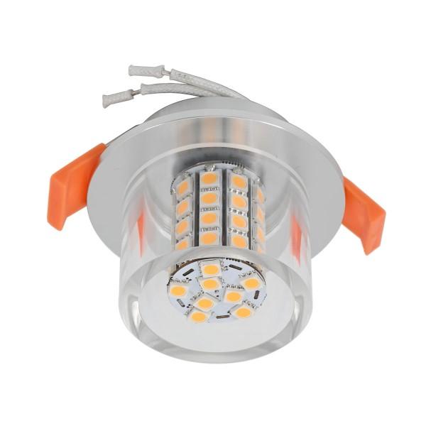 LED Einbauleuchte mit G4 Leuchtmittel 12V 6W 3000K 500Lumen