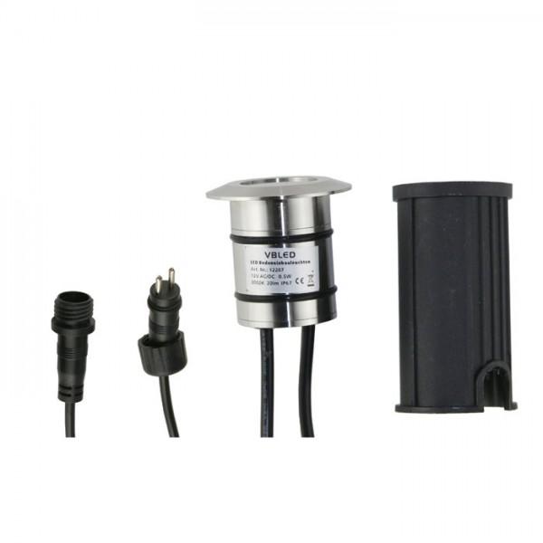 LED Bodeneinbauleuchte - Rund - 43mm