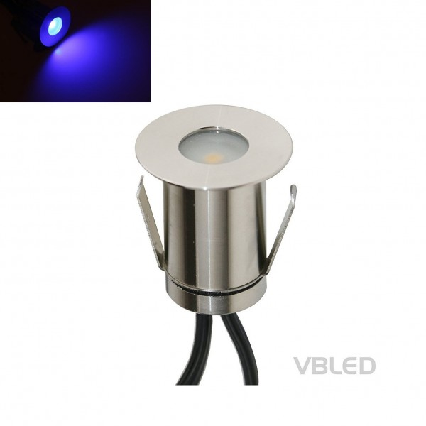 """1W Mini Bodeneinbauleuchte """"Floro"""" Blau 12V"""