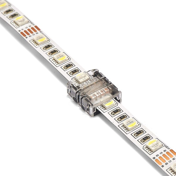 professionelle RGBW LED Streifen Verbinder 12mm 5PIN ohne Löten